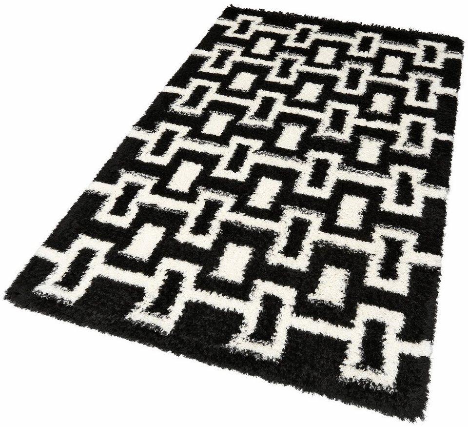 Hochflor-Teppich, my home, »Sascha«, Höhe 50 mm in schwarz