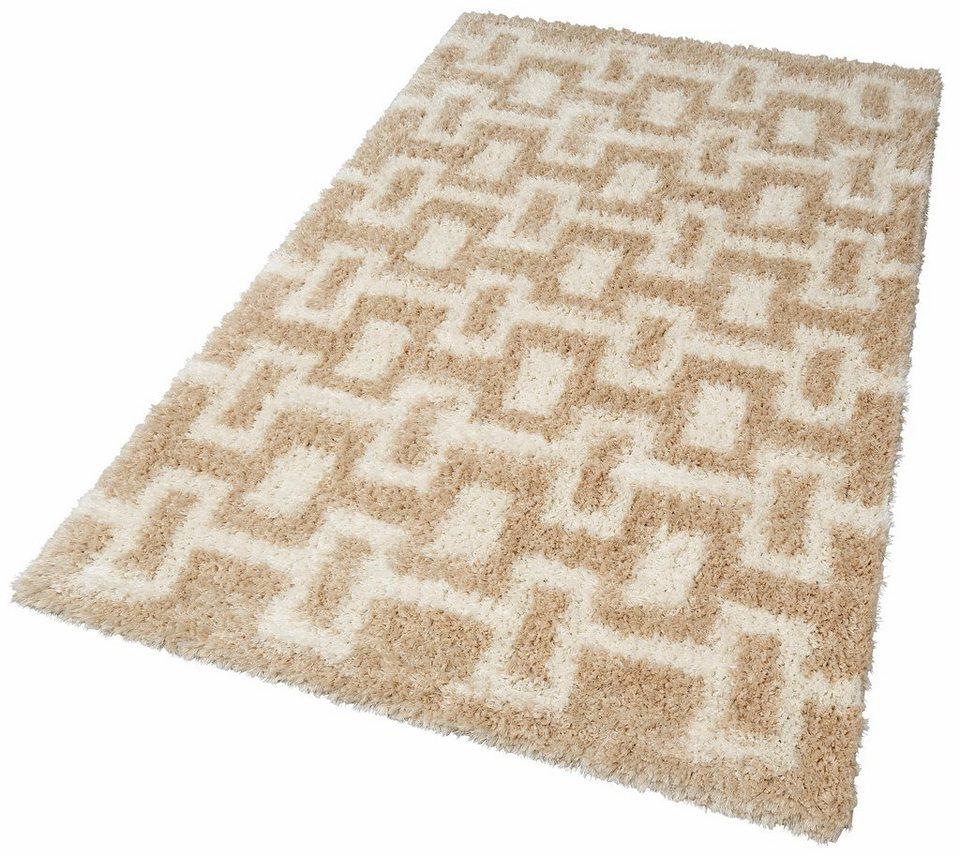 Hochflor-Teppich, my home, »Sascha«, Höhe 50 mm in sand
