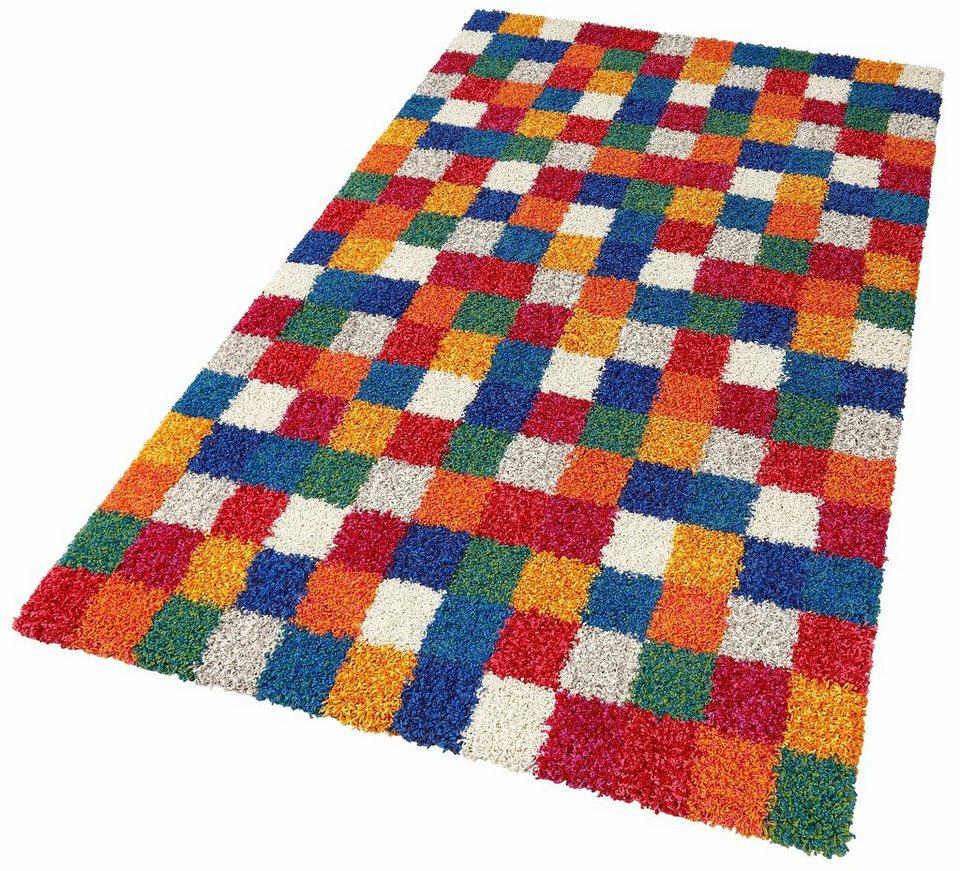 Hochflor-Teppich, Oriental Weavers, »Martin«, Höhe 35 mm in karo bunt