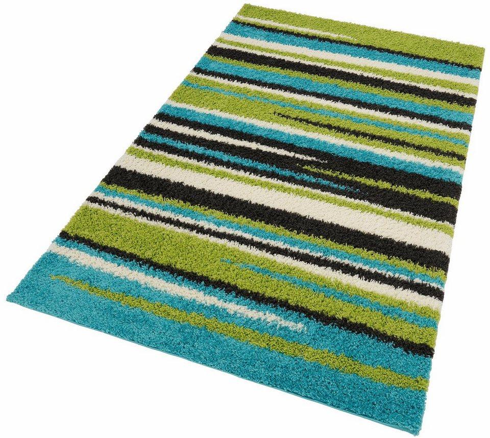 Hochflor-Teppich, my home, »Omex«, Höhe 30 mm in grün