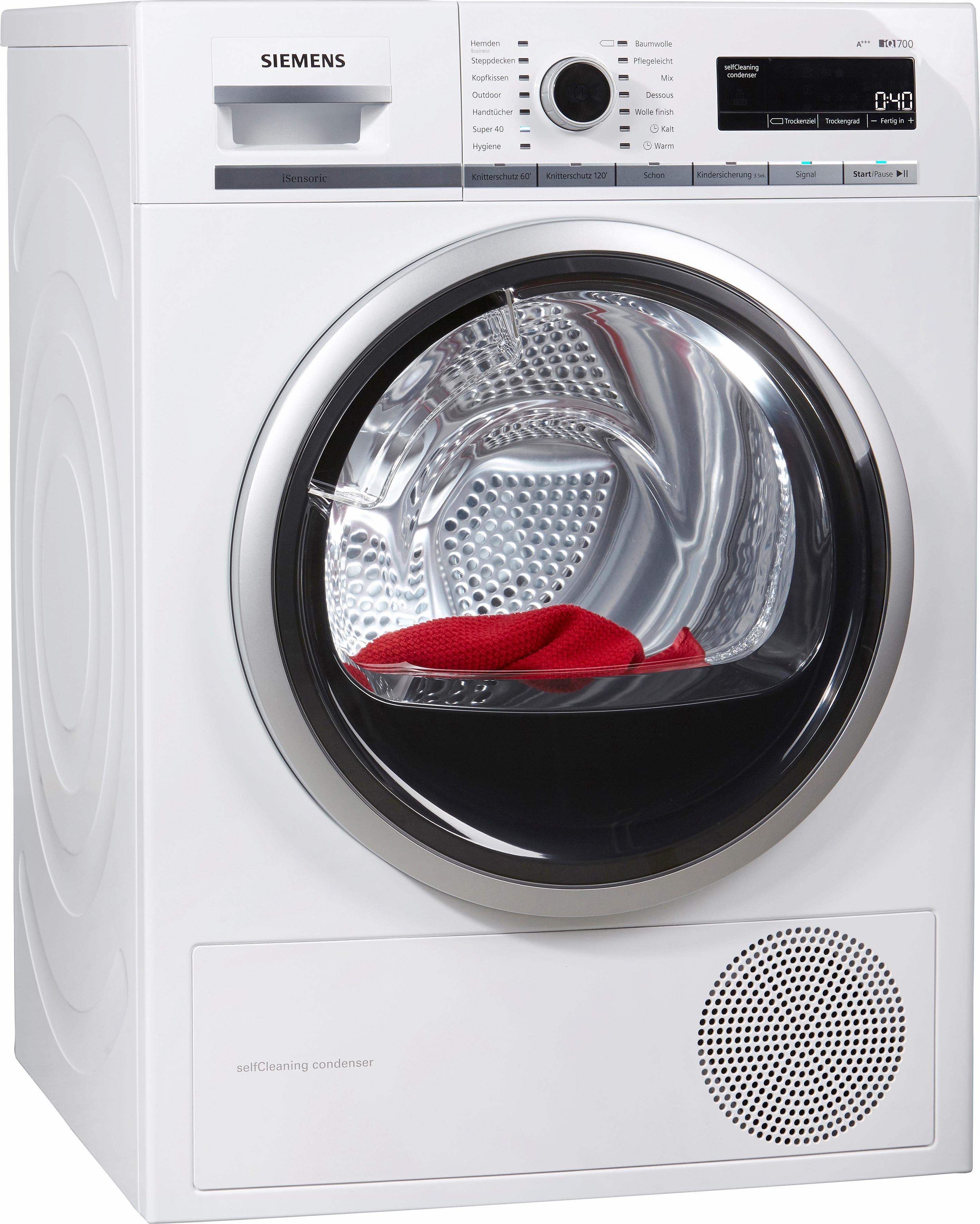 Wärmepumpentrockner iQ700 WT47W5W0, 8 kg