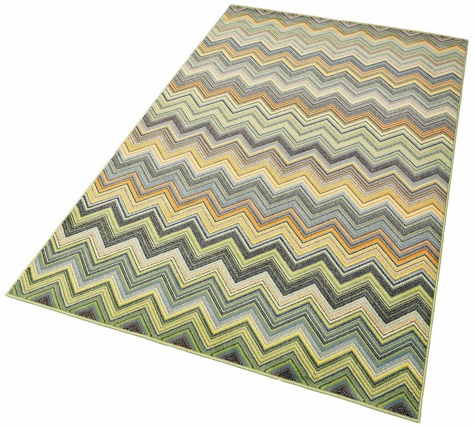 Teppich, my home, »Botticelli«, gewebt in grün