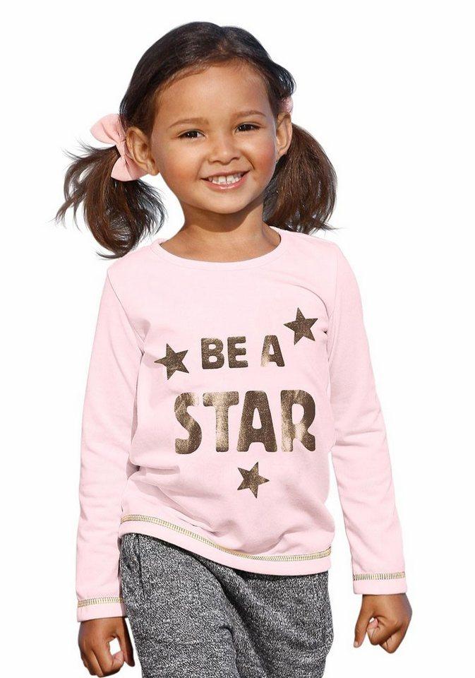 "Kidoki Langarmshirt ""BE A STAR"" in rosa"