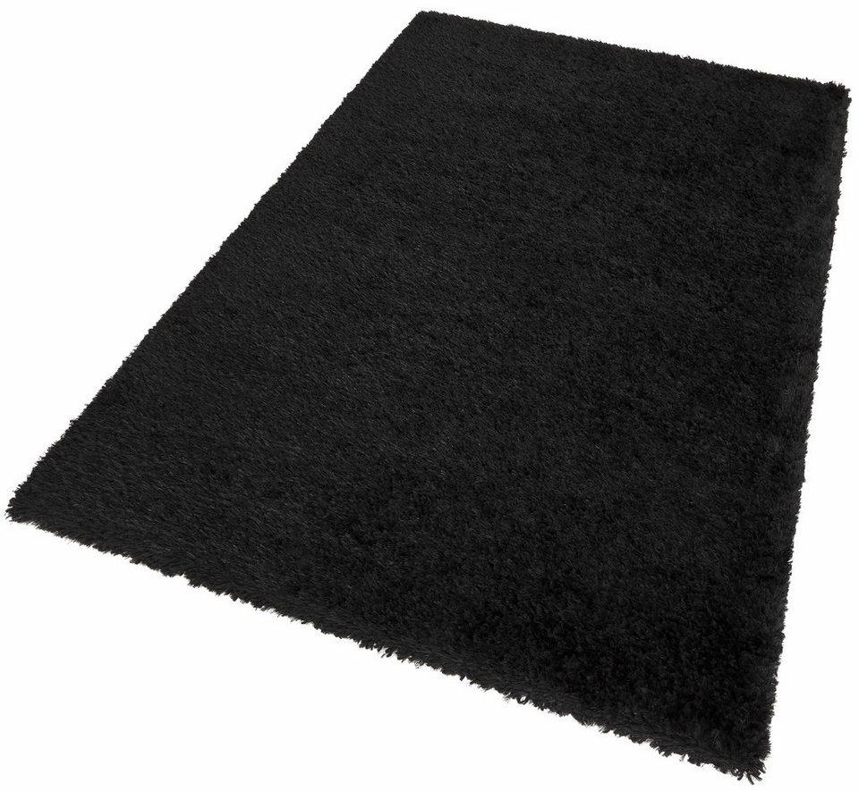 Hochflor-Teppich, my home, »Dustin«, Höhe 50 mm in schwarz