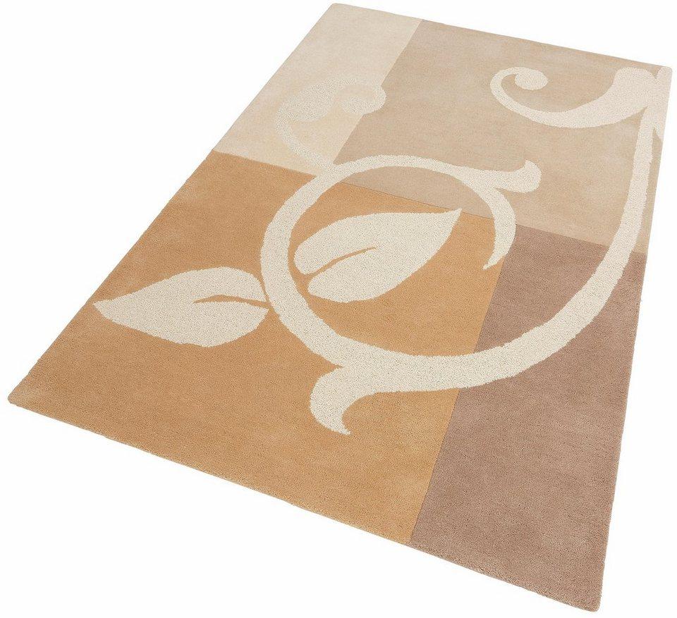 Teppich, Theko exklusiv, »Annalena«, handgearbeitet, Schurwolle in natur