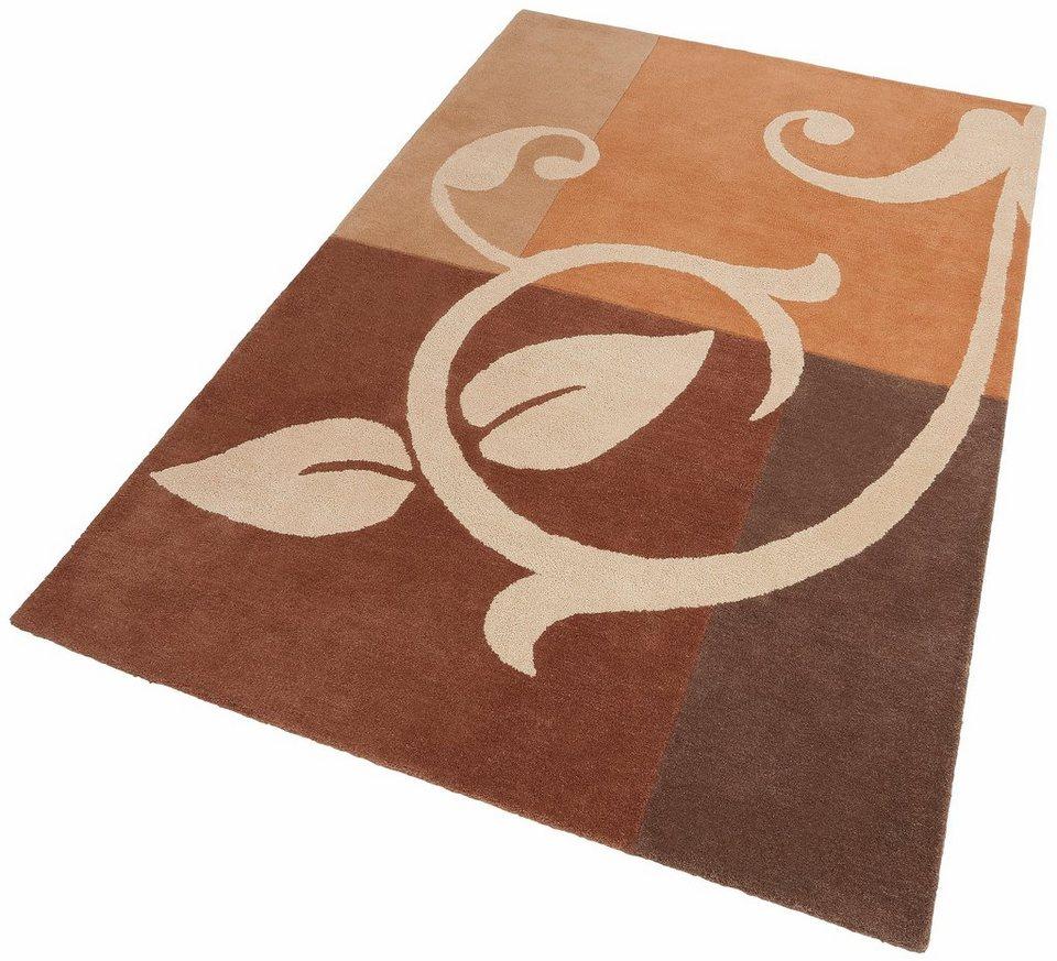 Teppich, Theko exklusiv, »Annalena«, handgearbeitet, Schurwolle in braun