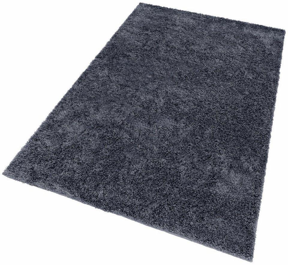 Hochflor-Teppich, b.b home passion, »EMOTION«, Höhe ca. 40 mm, handgetuftet in blau