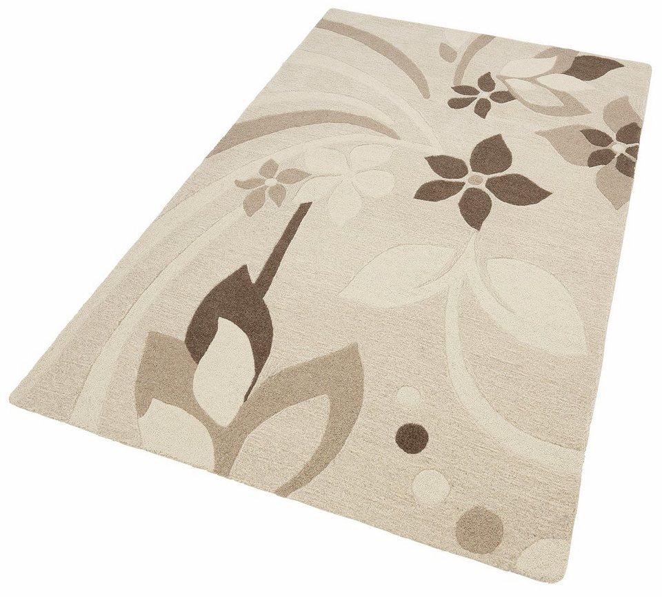 Teppich, Home Affaire Collection, »Isabella«, handgearbeitet, Schurwolle, in natur