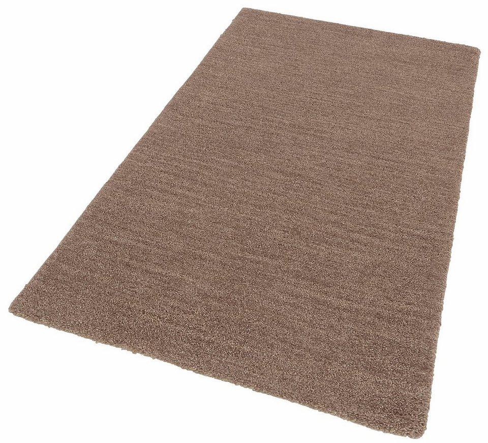 Teppich, Theko exklusiv, »Milano«, handgearbeitet, Schurwolle in braun