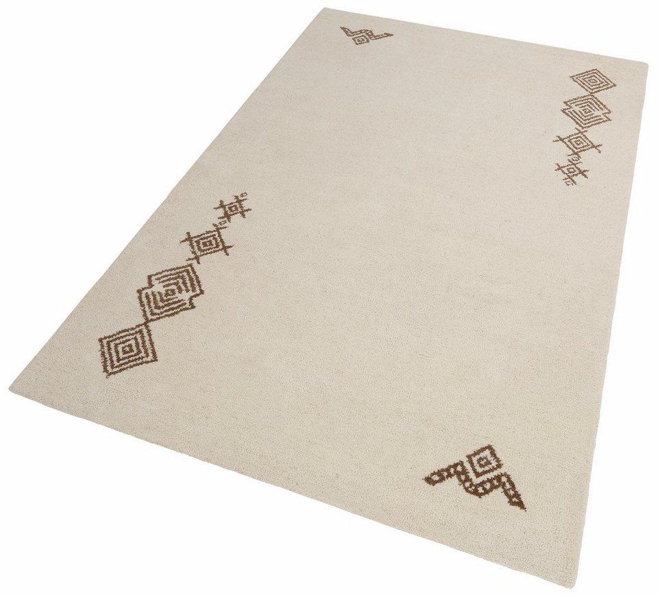 Teppich, Theko exklusiv, »Leander«, handgearbeitet, Schurwolle in natur