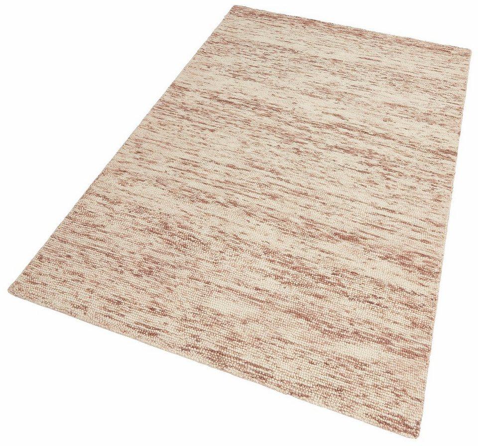 Teppich, Theko exklusiv, »Michael«, handgearbeitet, Schurwolle in schoko