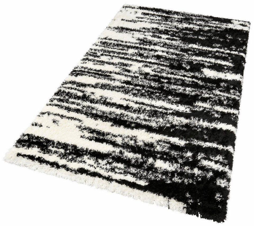 Hochflor-Teppich, my home, »Leyla«, Höhe 50 mm in schwarz