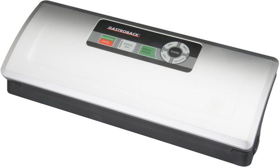 Gastroback Vakuumierer »Design Vakuumierer Plus 46008«, 2 Betriebsarten vollautomatisch und manuell
