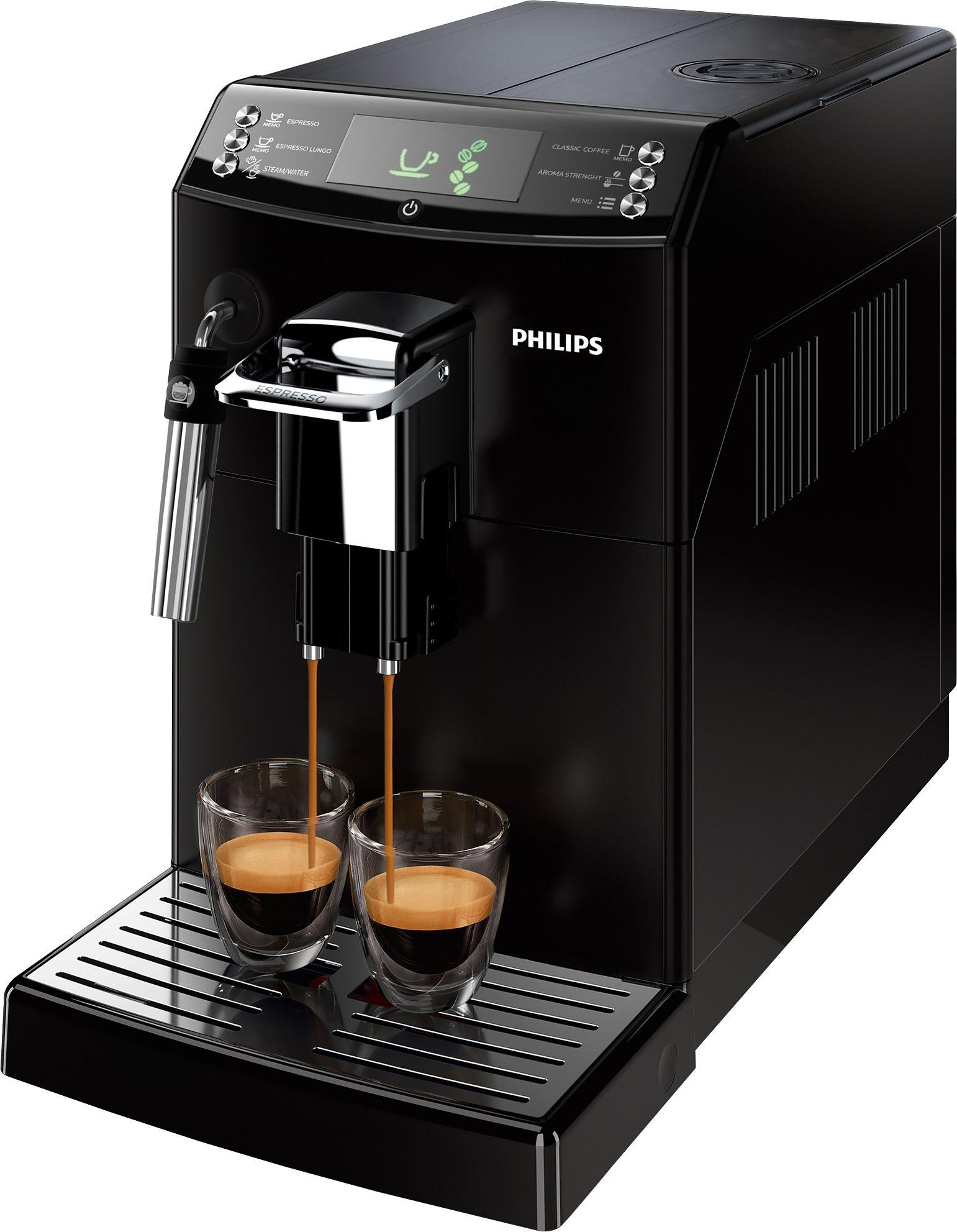 Philips Kaffeevollautomat 4000 Series HD8841/01, 1,8l Tank, Scheibenmahlwerk, mit Panarello