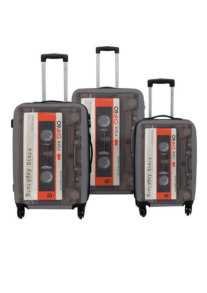 F23™ Hartschalen-Trolley-Set mit 4 Rollen, »Tape« (3-tlg.) in grau