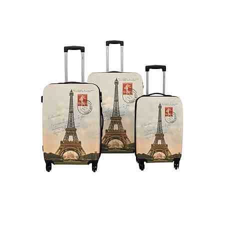 F23™ Hartschalen-Trolley-Set mit 4 Rollen, »Paris« (3-tlg.)