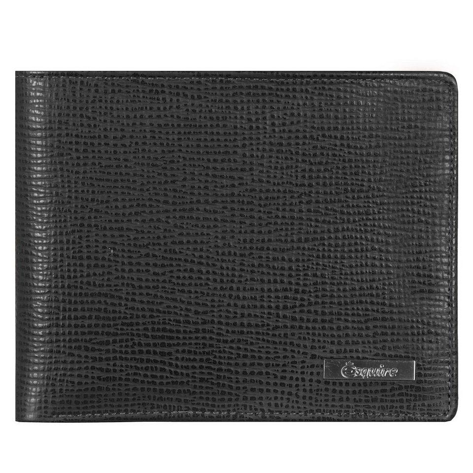 Esquire Boston Geldbörse Leder 12 cm in schwarz