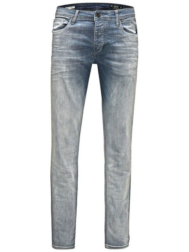 Jack & Jones Tim Original JJ 848 Slim Fit Jeans in Blue Denim