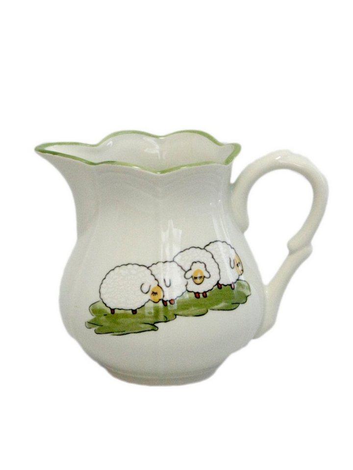 Zeller Keramik Rahmgießer »Schäfchen« in Weiß