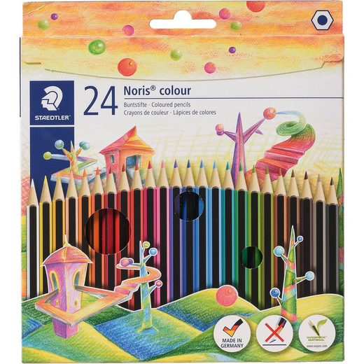 STAEDTLER NORIS Club 6-Kant-Buntstifte, 24 Farben