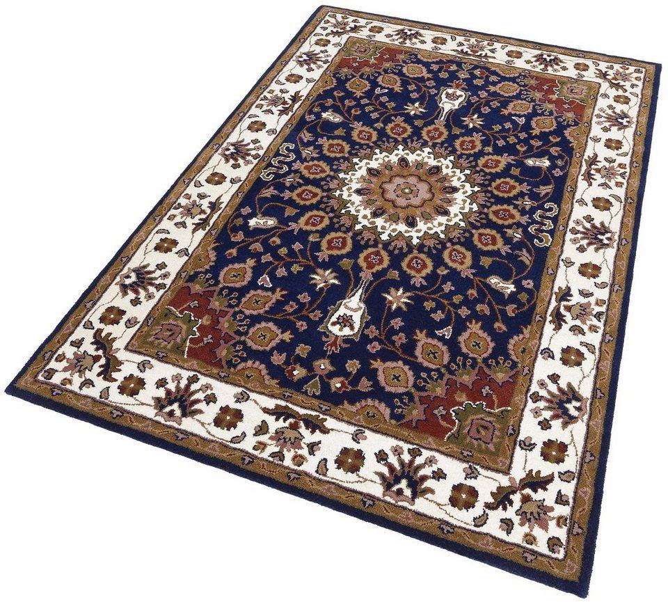 Teppich, Theko exklusiv, »Khorassan«, handgearbeitet, Schurwolle in blau