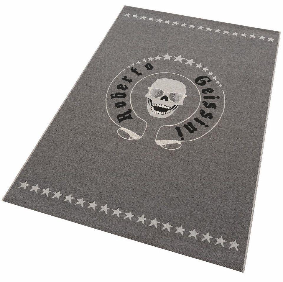 Teppich, Roberto Geissini, »Skull« in anthrazit