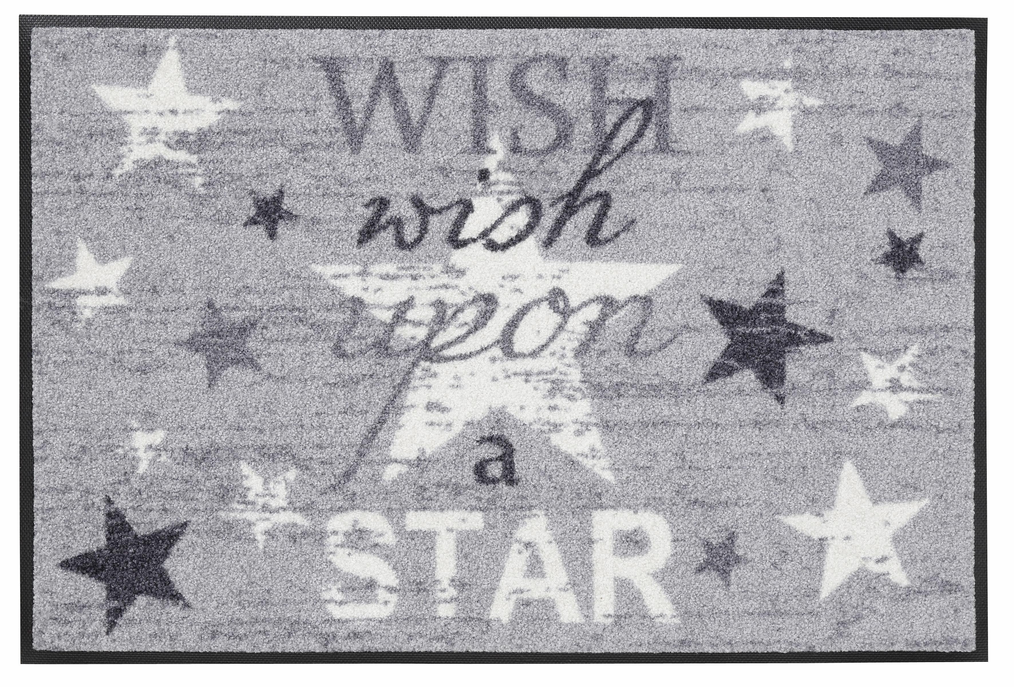 Fußmatte »Wish upon a star«, wash+dry by Kleen-Tex, rechteckig, Höhe 7 mm