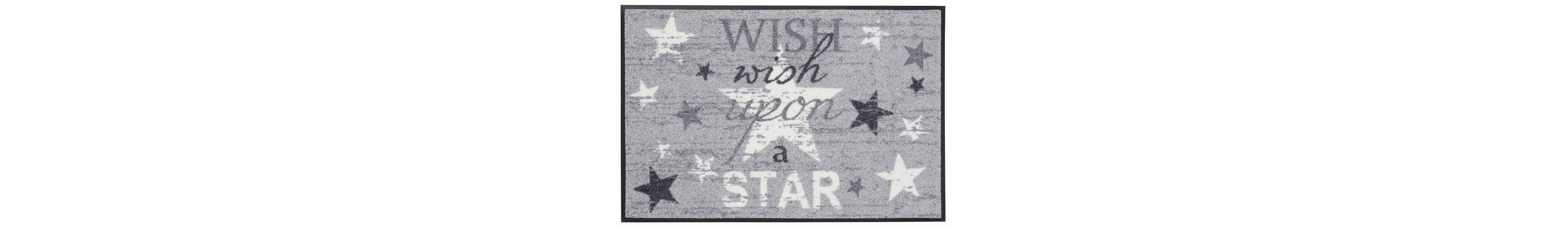 Fußmatte, wash+dry by Kleen-Tex, »Wish upon a star«, rutschhemmend beschichtet