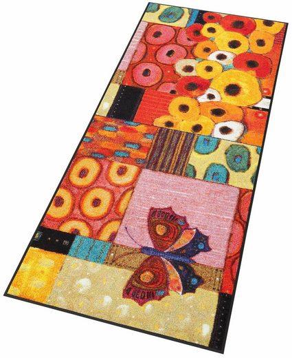 Läufer »Colourful Moment«, wash+dry by Kleen-Tex, rechteckig, Höhe 7 mm, In- und Outdoor geeignet