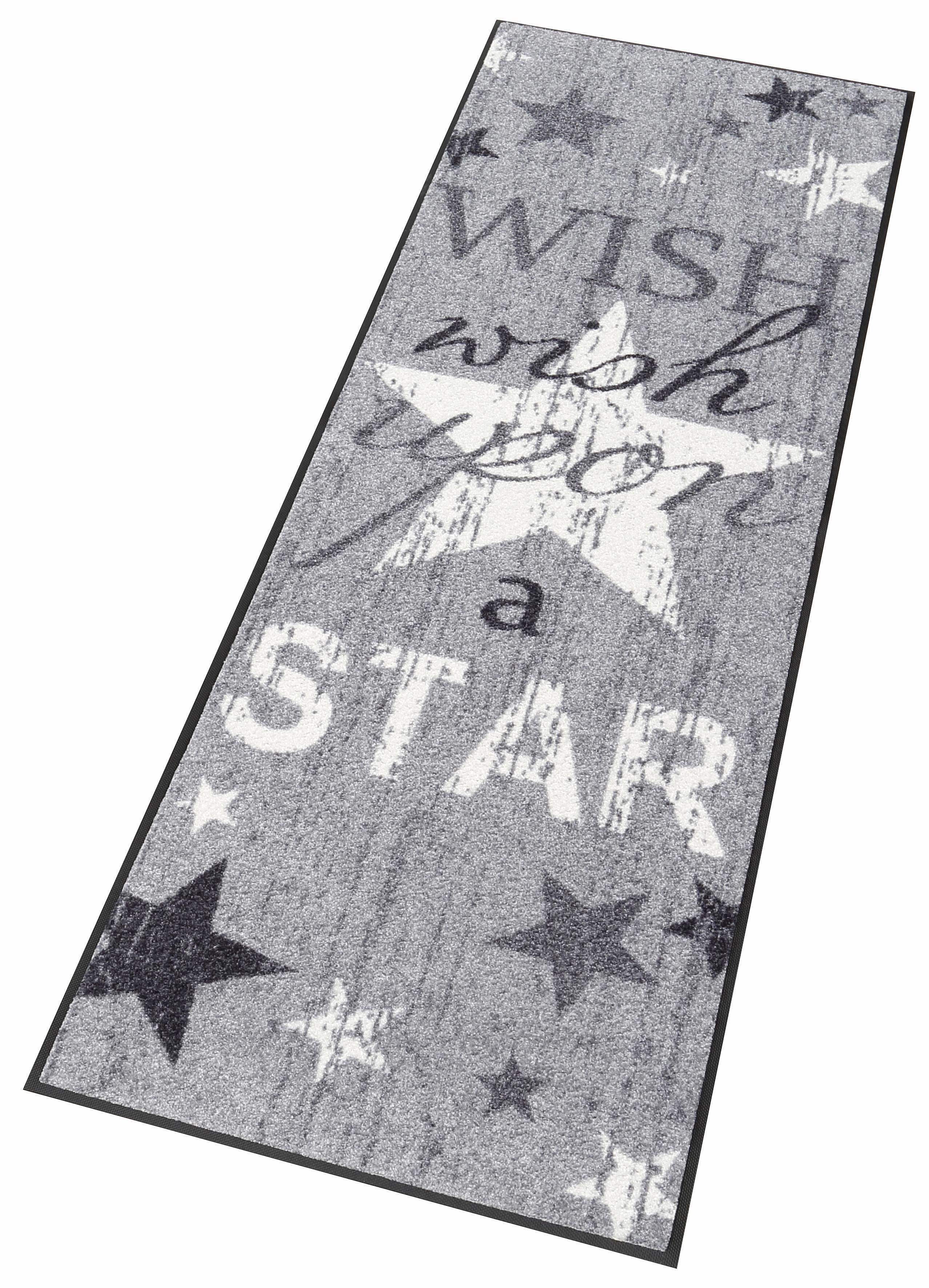Läufer »Wish upon a star«, wash+dry by Kleen-Tex, rechteckig, Höhe 7 mm
