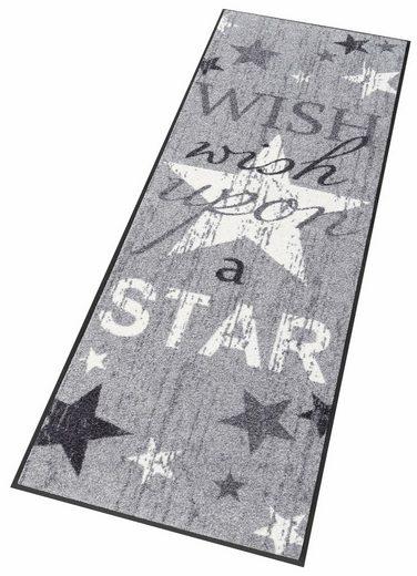 Läufer »Wish upon a star«, wash+dry by Kleen-Tex, rechteckig, Höhe 7 mm, In- und Outdoor geeignet