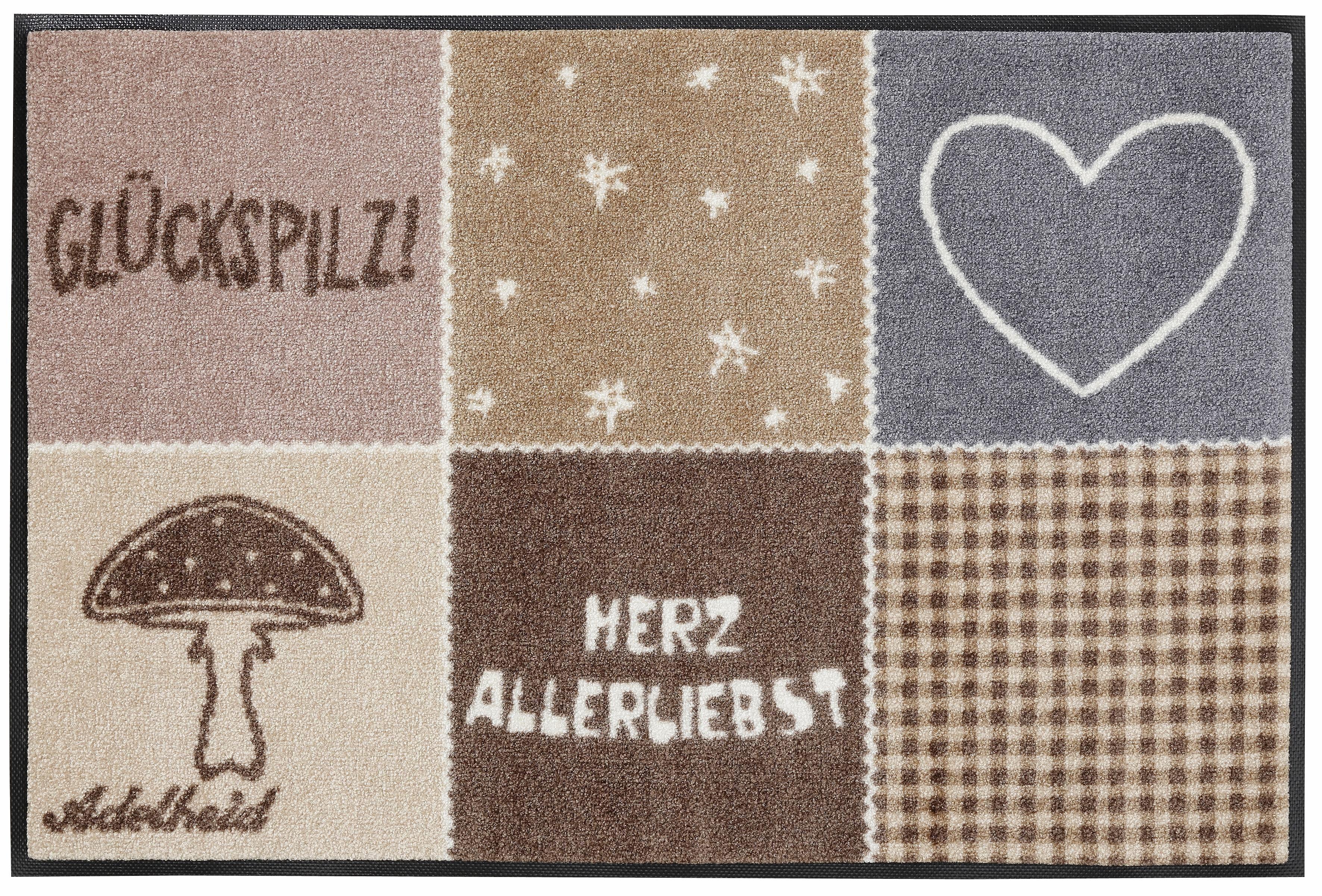 Fußmatte, wash+dry by Kleen-Tex, »Herzallerliebst«, rutschhemmend beschichtet