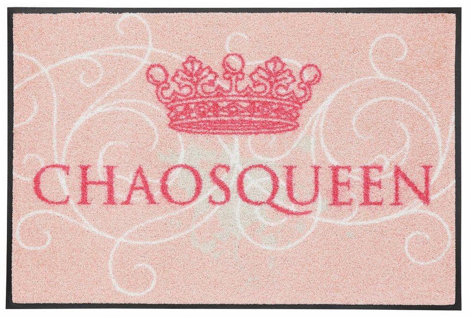 Fußmatte, wash+dry by Kleen-Tex, »Chaosqueen«, rutschhemmend beschichtet in rosa