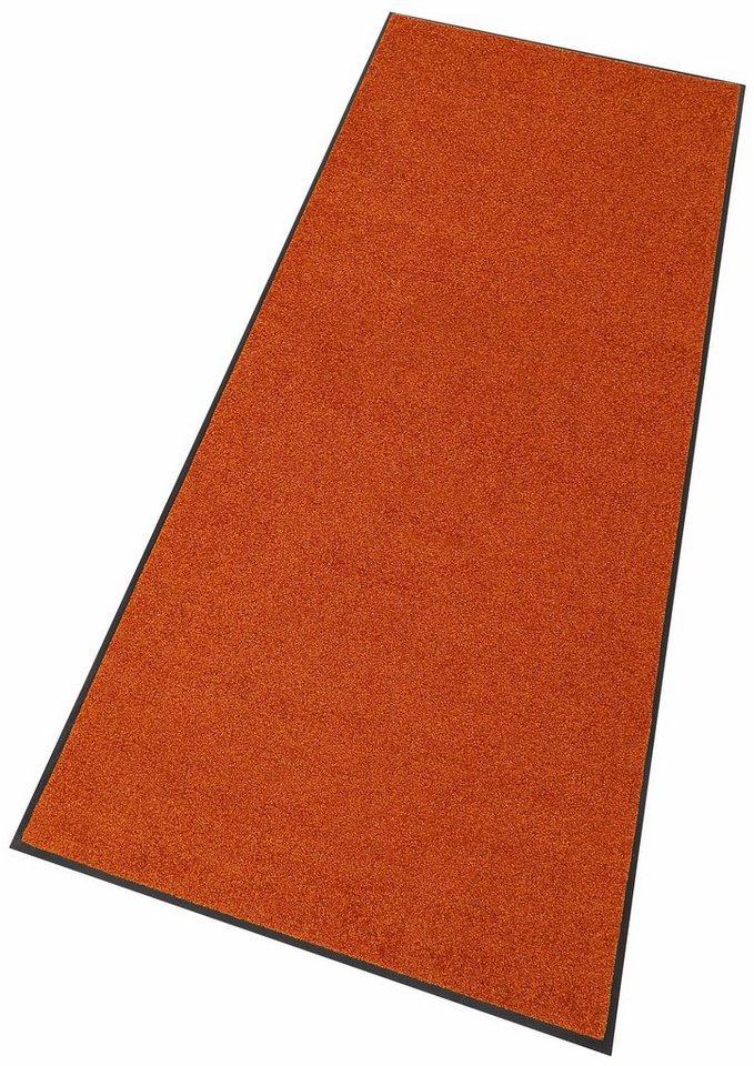 Läufer, wash+dry by Kleen-Tex,»Trend Uni«, Waschbar, In- und Outdoor in orange