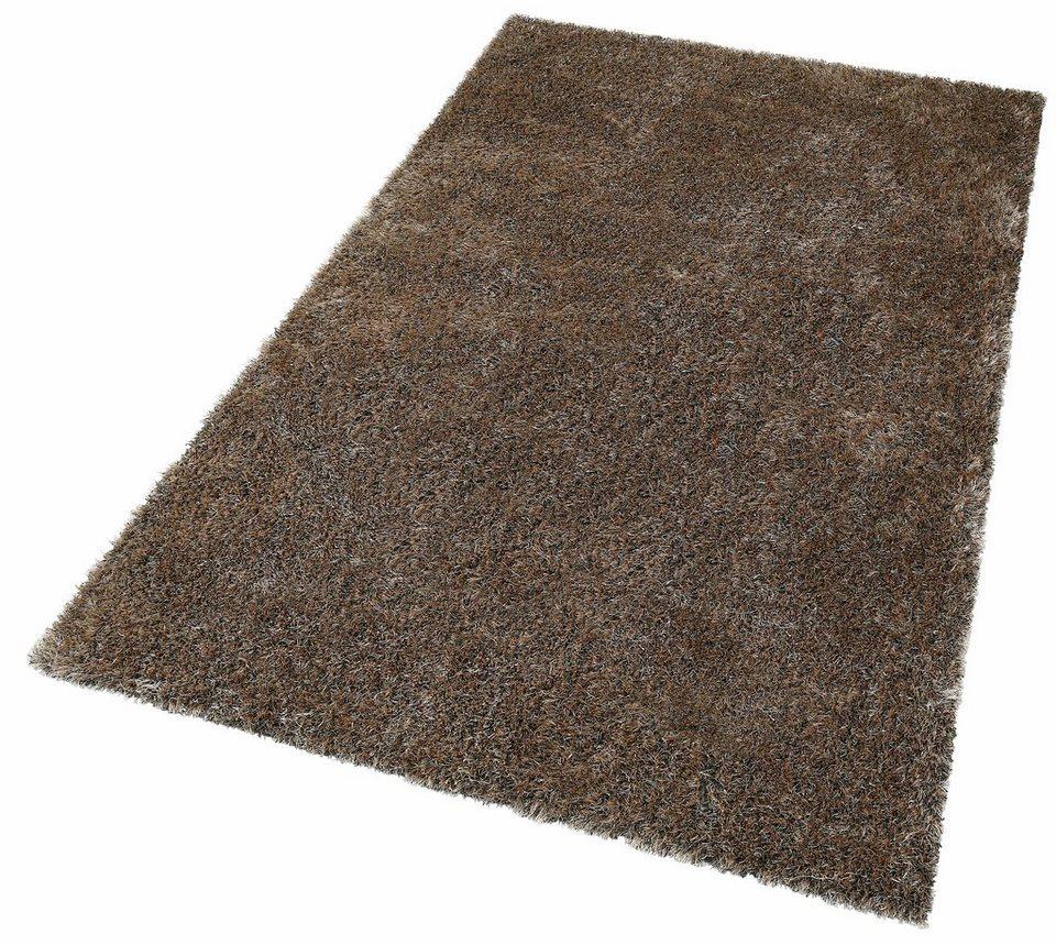 Teppich hellgrau hochflor  Hochflor-Teppich »Tokyo«, my home, rechteckig, Höhe 40 mm online ...