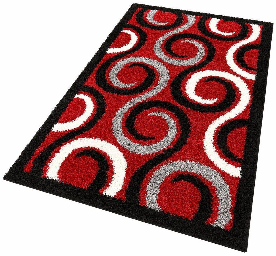 Hochflor-Teppich, my home, »Carlotta«, Höhe 30 mm in rot