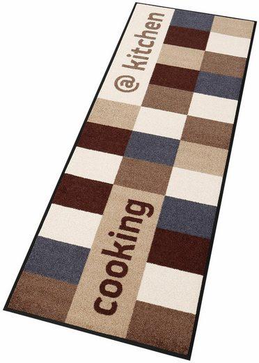 Läufer »@kitchen brownish«, wash+dry by Kleen-Tex, rechteckig, Höhe 7 mm, In- und Outdoor geeignet, waschbar