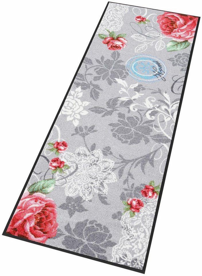 Läufer »Nordic Romance«, wash+dry by Kleen-Tex, rechteckig, Höhe 7 mm in grau-weiß