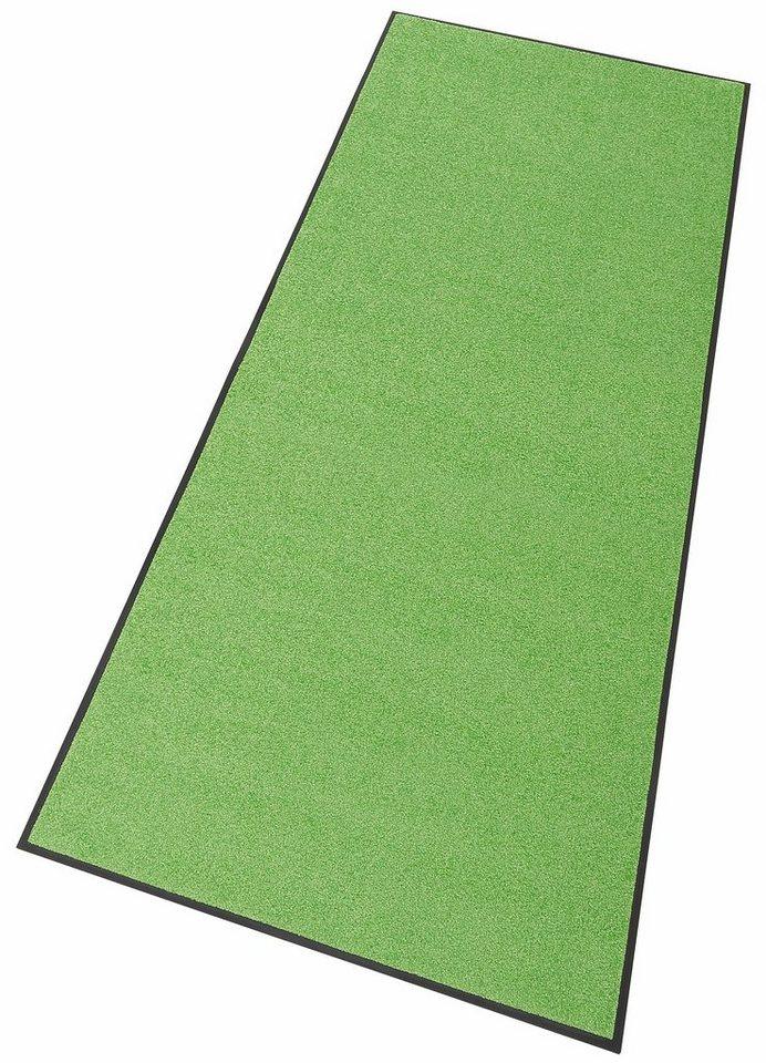 Läufer »Trend Uni«, wash+dry by Kleen-Tex, rechteckig, Höhe 7 mm in apfelgrün