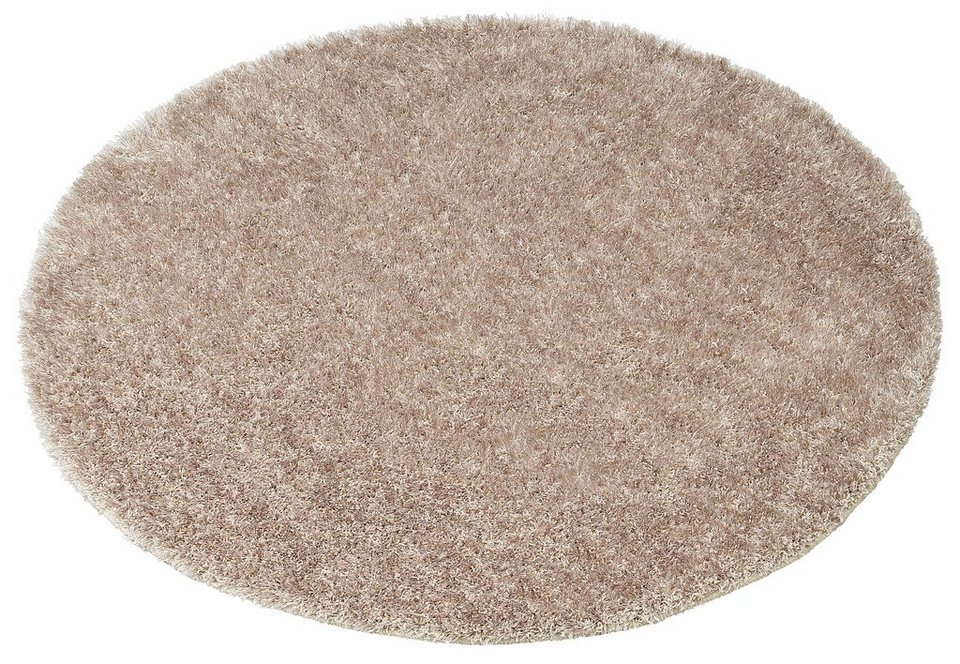 Teppich rund beige  Hochflor-Teppich »Tokyo«, my home, rund, Höhe 40 mm online kaufen ...