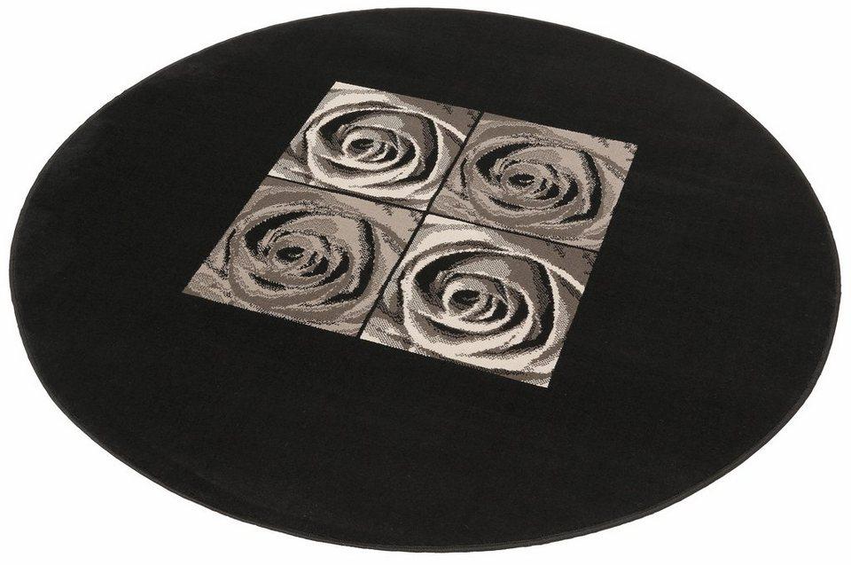 Teppich, Rund, my home, »Laurin«, gewebt in schwarz