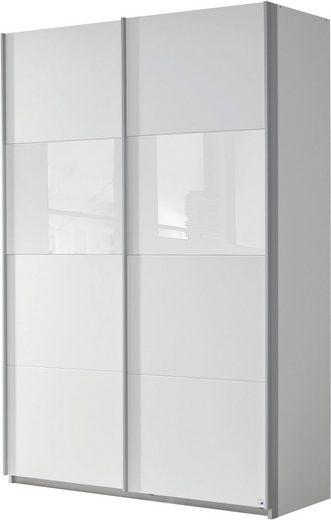 rauch ORANGE Schwebetürenschrank »Quadra« mit Glaselementen