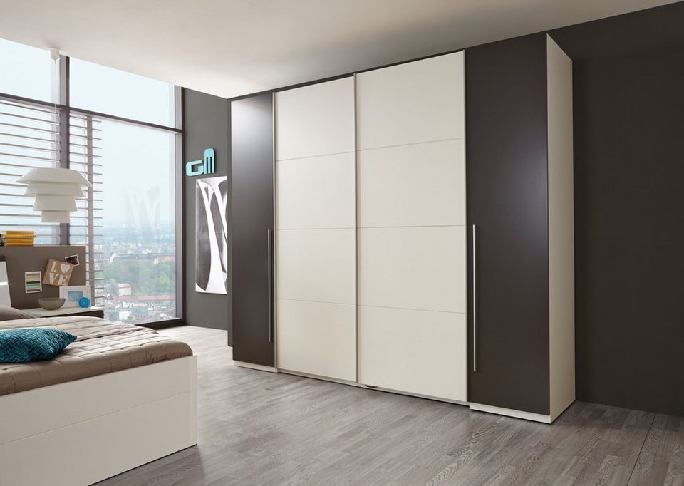 kleiderschrank schiebet ren wei. Black Bedroom Furniture Sets. Home Design Ideas