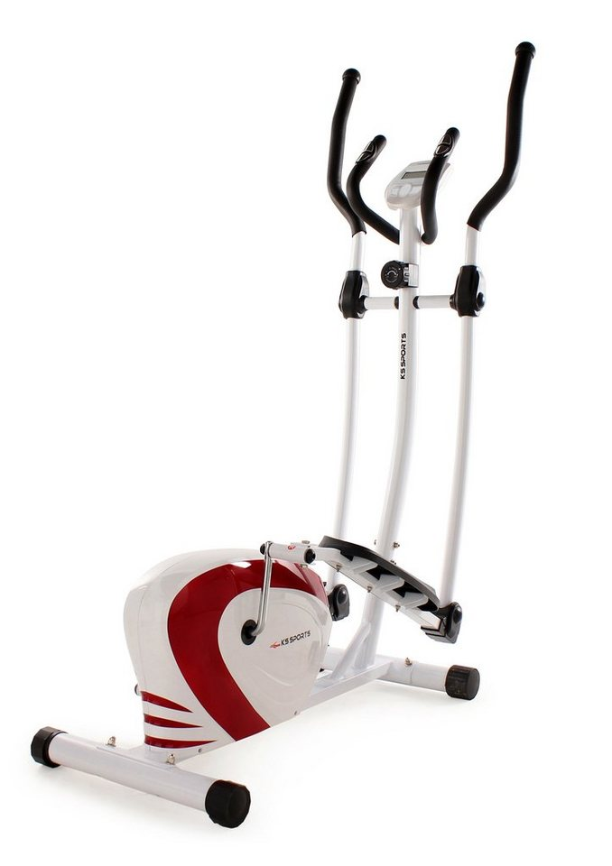 KS Sports Crosstrainer, »204F« in weiß-schwarz-rot