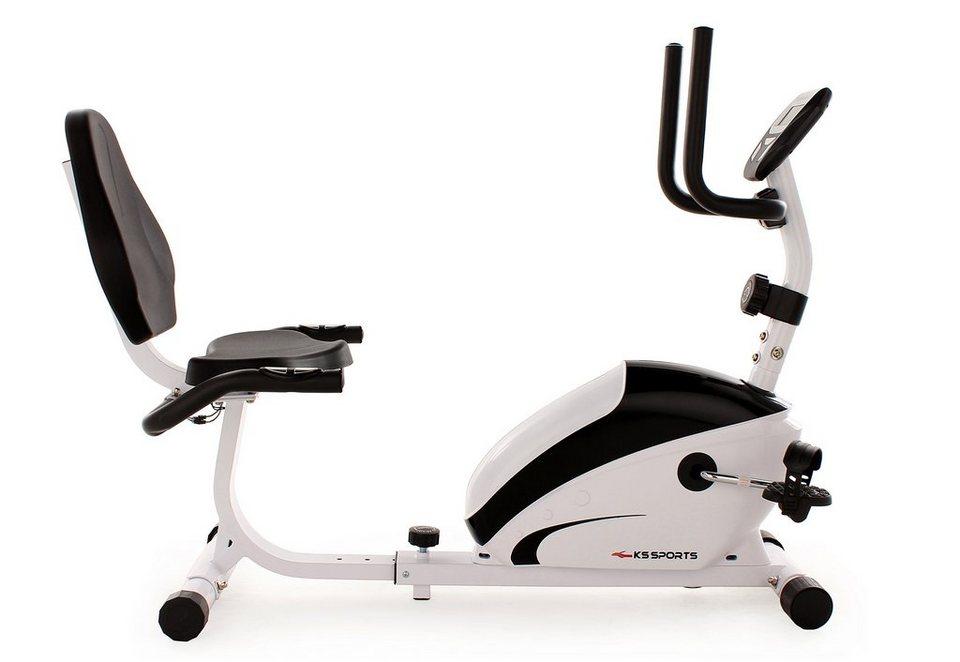 KS Sports Recumbent Bike, »302F« in schwarz-weiß