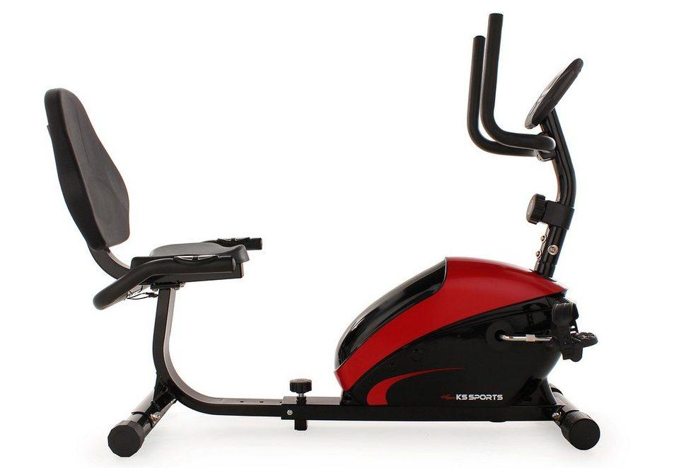 KS Sports Recumbent Bike, »301F« in schwarz-rot