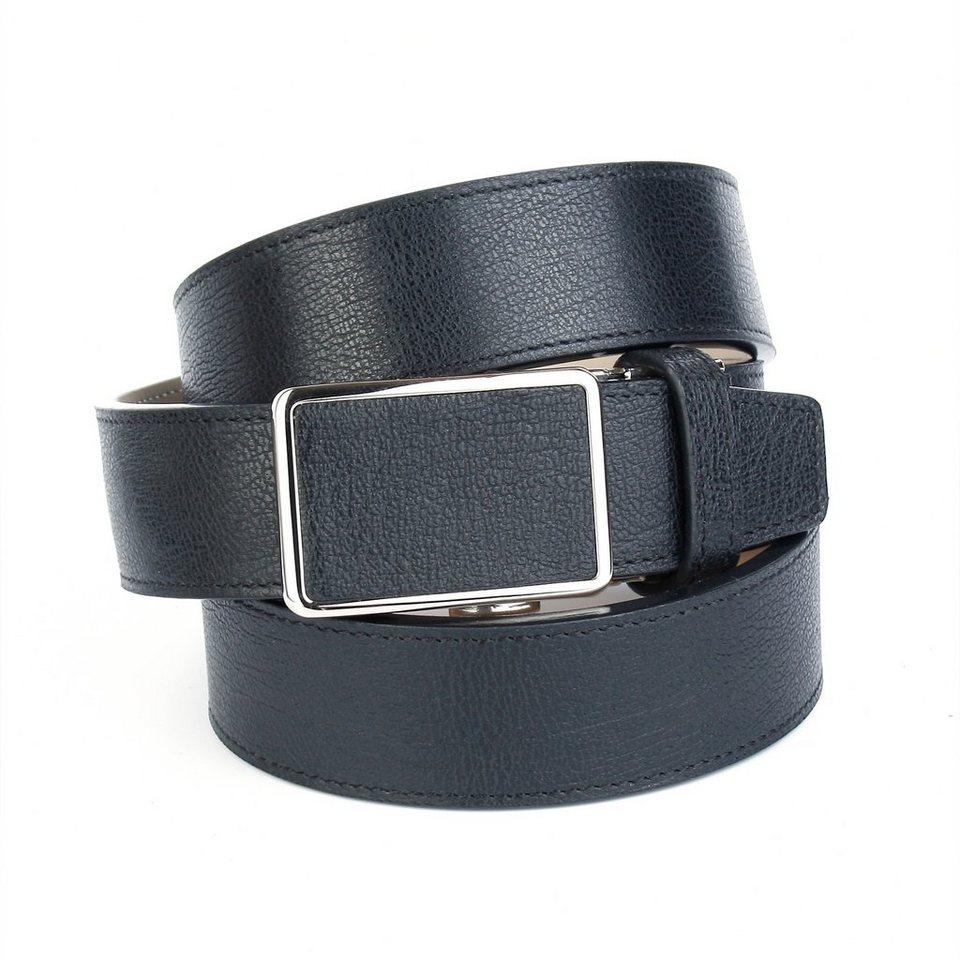 Anthoni Crown Ledergürtel für Freizeithosen in Schwarz