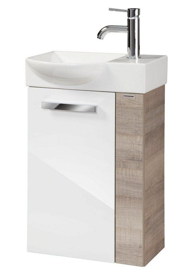 Waschplatz »A-Vero« in weiß/eichefarben grau