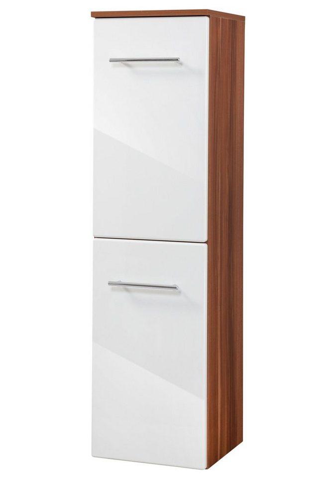 Kesper Midischrank »Monza«, Breite 33,5 cm in nussbaumfarben/weiß