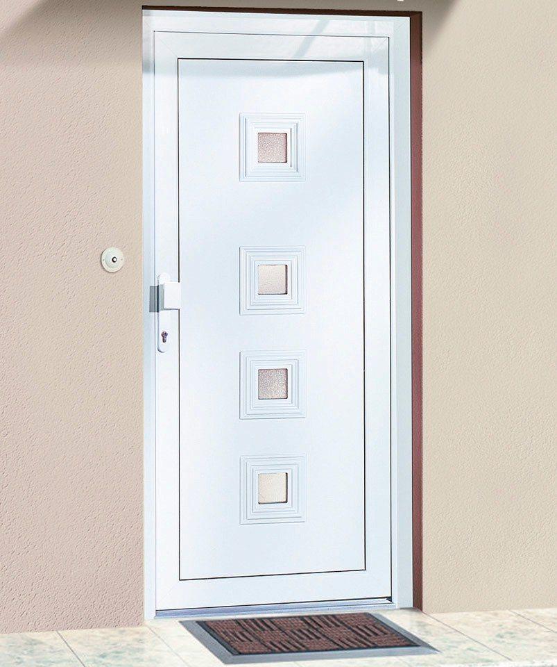 Kunststoff-Haustür »Spanien« BxH: 110 x 210 cm, weiß in weiß